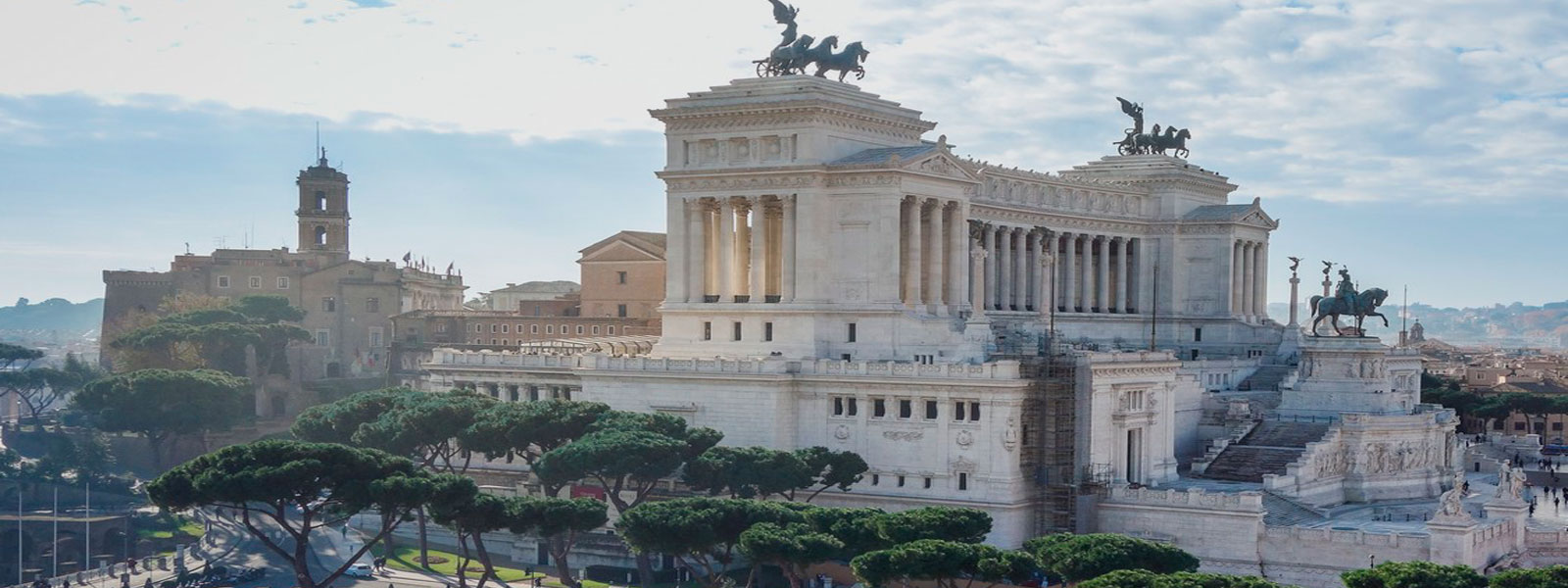 Sightseeing tour of Rome with an English guide